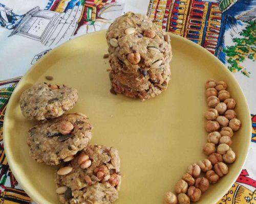 נשנושי עוגיות מלוחות שיבולת שועל ואגוזים